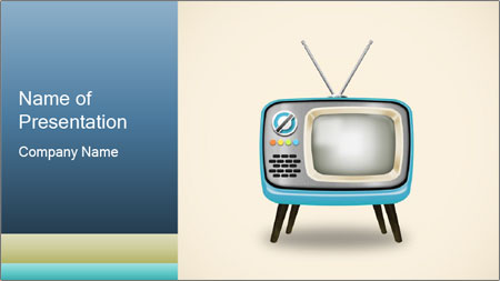 Old television PowerPoint Template