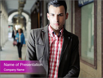 Young handsome man PowerPoint Template - Slide 1