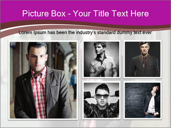 Young handsome man PowerPoint Template - Slide 19