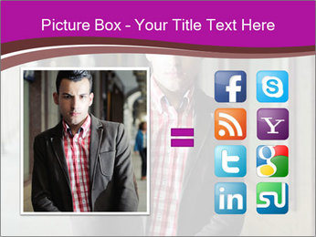 Young handsome man PowerPoint Template - Slide 21