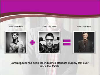 Young handsome man PowerPoint Template - Slide 22