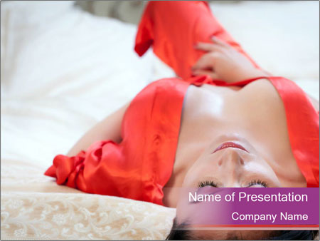 Mature woman PowerPoint Template