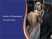 Sensual couple PowerPoint Template