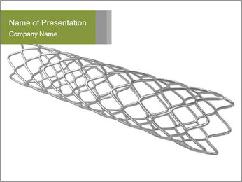 Close-up image of stent PowerPoint Template - Slide 1