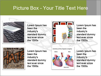 Close-up image of stent PowerPoint Template - Slide 14