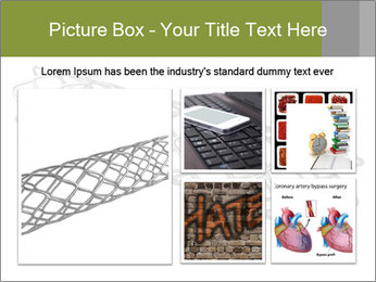 Close-up image of stent PowerPoint Template - Slide 19