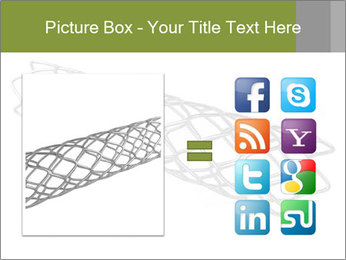 Close-up image of stent PowerPoint Template - Slide 21