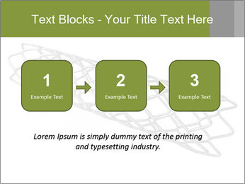 Close-up image of stent PowerPoint Template - Slide 71