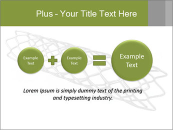 Close-up image of stent PowerPoint Template - Slide 75