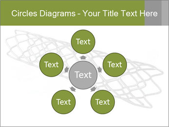 Close-up image of stent PowerPoint Template - Slide 78