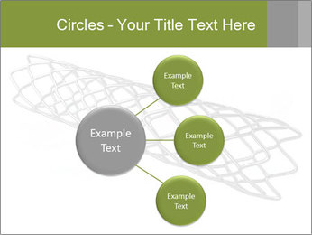 Close-up image of stent PowerPoint Template - Slide 79