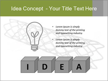 Close-up image of stent PowerPoint Template - Slide 80