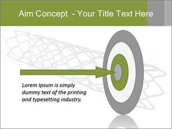 Close-up image of stent PowerPoint Template - Slide 83
