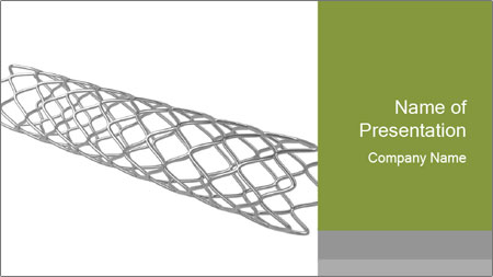 Close-up image of stent PowerPoint Template