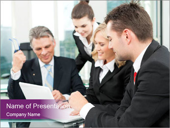 Business people PowerPoint Templates - Slide 1