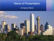 Dallas skyline PowerPoint Template
