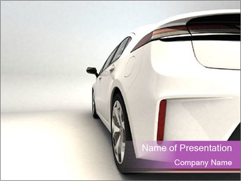 White sports car PowerPoint Template
