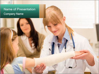 Female pediatrician PowerPoint Template