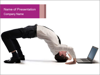 Young businessman PowerPoint Template - Slide 1