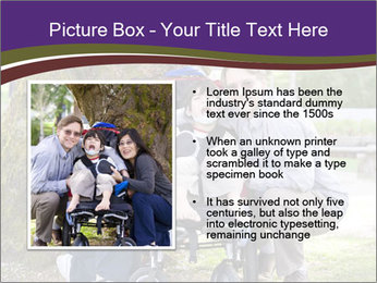 Happy disabled child PowerPoint Template - Slide 13