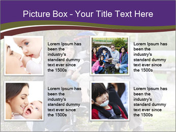 Happy disabled child PowerPoint Template - Slide 14