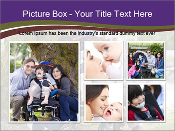 Happy disabled child PowerPoint Templates - Slide 19