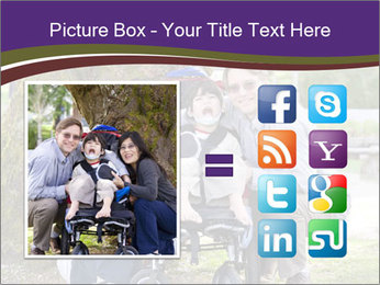 Happy disabled child PowerPoint Template - Slide 21
