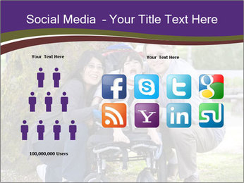 Happy disabled child PowerPoint Templates - Slide 5