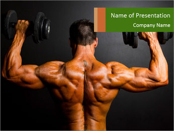 Bodybuilder training PowerPoint Template
