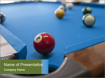 Different views of snooker PowerPoint Template - Slide 1