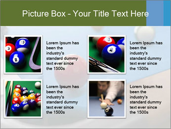 Different views of snooker PowerPoint Template - Slide 14