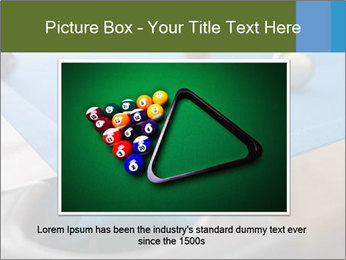 Different views of snooker PowerPoint Template - Slide 16