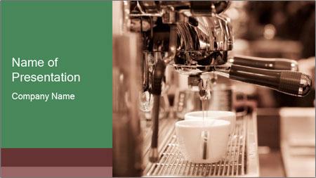 Prepares espresso PowerPoint Template