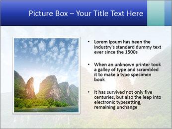 Beautiful Yu Long river PowerPoint Template - Slide 13