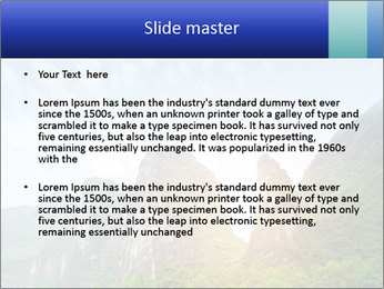 Beautiful Yu Long river PowerPoint Template - Slide 2