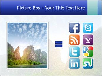 Beautiful Yu Long river PowerPoint Template - Slide 21