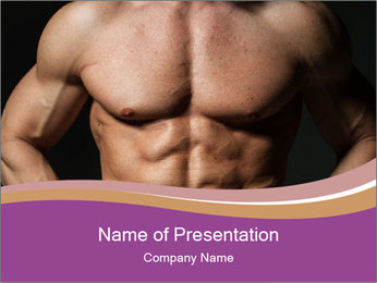 A fit young male PowerPoint Template