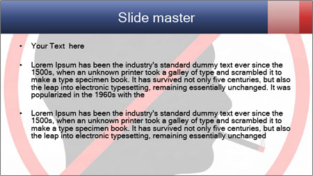 A graphic warning PowerPoint Template - Slide 2