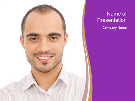 Smiling man PowerPoint Template