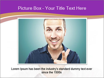 Smiling man PowerPoint Template - Slide 16