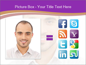 Smiling man PowerPoint Template - Slide 21