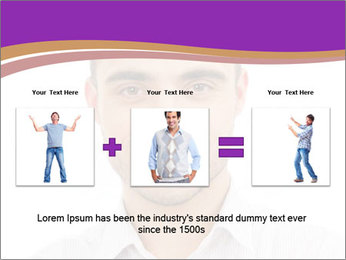 Smiling man PowerPoint Template - Slide 22