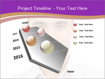 Smiling man PowerPoint Template - Slide 26