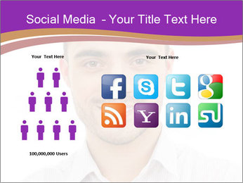 Smiling man PowerPoint Template - Slide 5