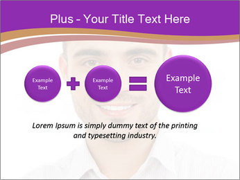Smiling man PowerPoint Template - Slide 75