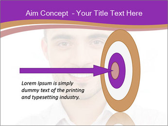 Smiling man PowerPoint Template - Slide 83