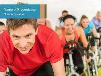 People in gym PowerPoint Template