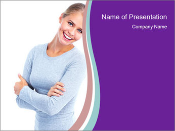 Young business woman PowerPoint Template