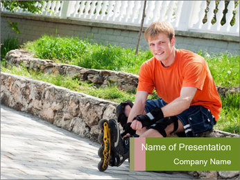 Handsome smiling PowerPoint Template - Slide 1