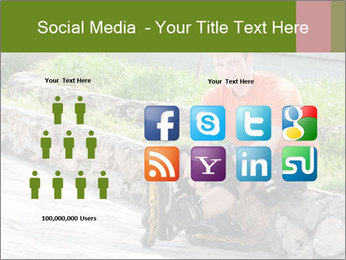 Handsome smiling PowerPoint Template - Slide 5